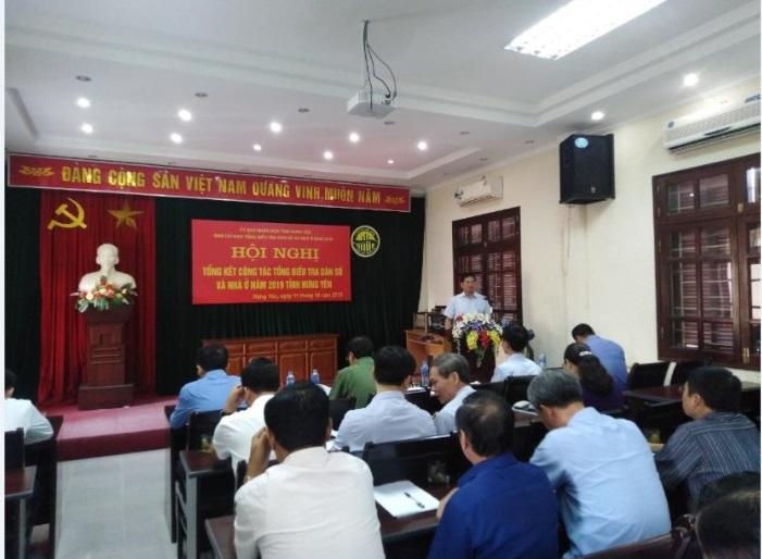 Hội nghị Tổng kết công tác Tổng kết Tổng điều tra dân số và nhà ở năm 2019 tỉnh Hưng Yên