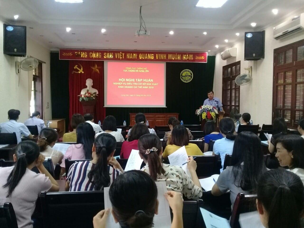 Hội nghị tập huấn nghiệp vụ Điều tra cơ sở sản xuất kinh doanh cá thể năm 2018